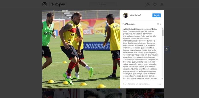 Willian Farias; instagram (Foto: Reprodução)