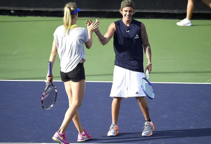Eugenie Bouchard e  Justin Bieber, Tênis (Foto: AFP)