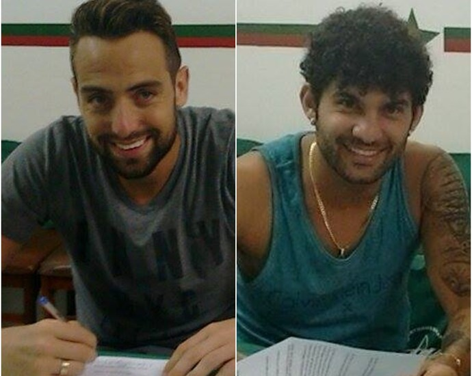 Márcio e Cássio, novos reforços da Portuguesa-RJ (Foto: Divulgação/ Portuguesa-RJ)