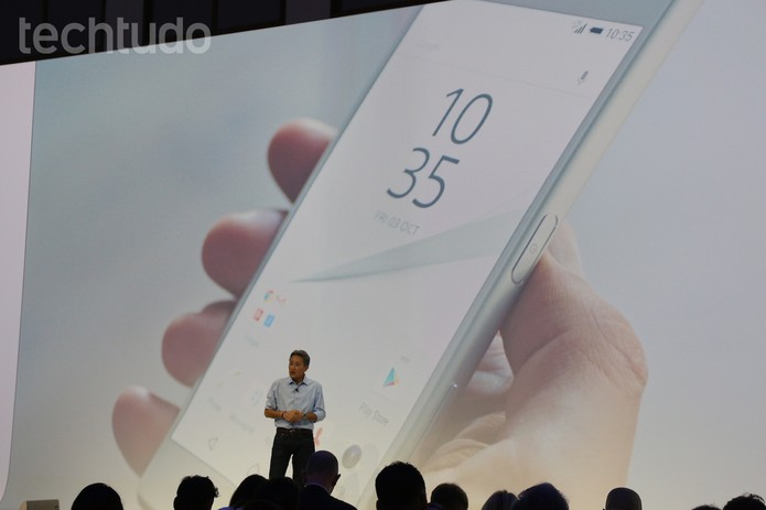 Sony apresenta novos smartphones na IFA 2015 (Foto: Fabrício Vitorino/TechTudo)