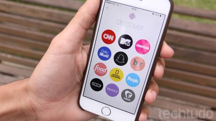 Discover no Snapchat (Foto: TechTudo / Lucas Mendes)