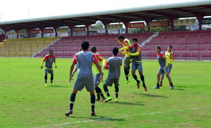 Guaratinguetá treino Audax (Foto: Danilo Sardinha/GloboEsporte.com)