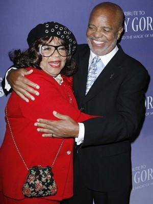 O fundador da Motown, Berry Gordy, e a irmã Anna Gordy Gaye, em foto de 2008 (Foto: Reuters/Gus Ruelas/File)