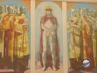 Equipe monta ateliê para restauro de telas de Portinari em Batatais, SP