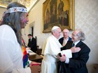 Papa Francisco recebe o ativista argentino Pérez Esquivel