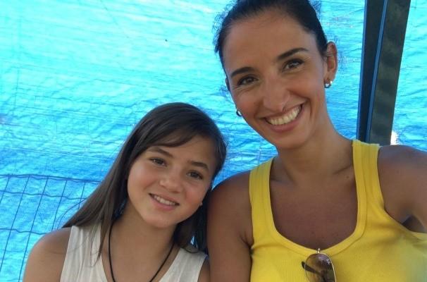 Alice Bastos Neves e Giulia Joga que nem mulher globo esporte rbs tv (Foto: Arquivo Pessoal)