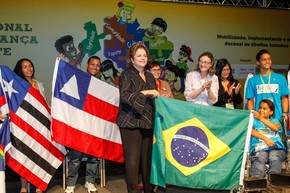 Dilma participa da 9ª Conferência Nacional dos Direitos da Criança e do Adolescente (Foto: Roberto Stuckert Filho/PR)