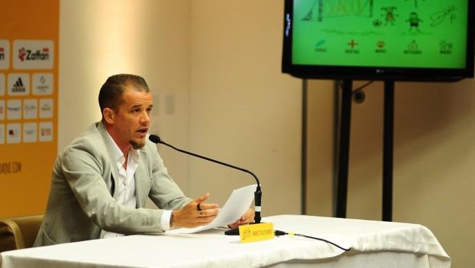 D'Alessandro em entrevista coletiva do Lance de Craque (Foto: Lance de Craque / DVG)