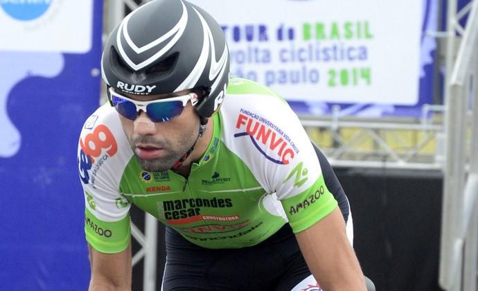 Magno Nazaré vence prova de contrarrelógio pelo Tour do Brasil de ciclismo (Foto: Sérgio Shibuya/MBraga Comunicação)