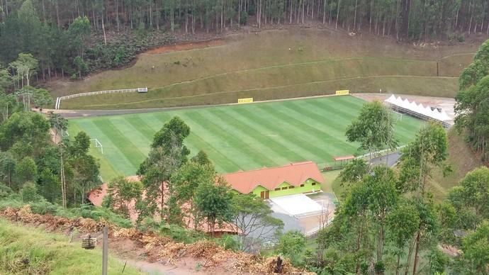 Campo do China Park que receberá o Botafogo  (Foto: Felippe Costa)