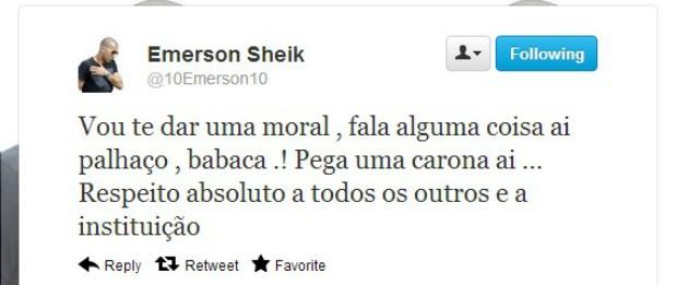 Emerson Sheik Corinthians (Foto: Reprodução / Twitter)