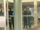 Ladrões são flagrados tentando abrir cofre de banco na capital de MS