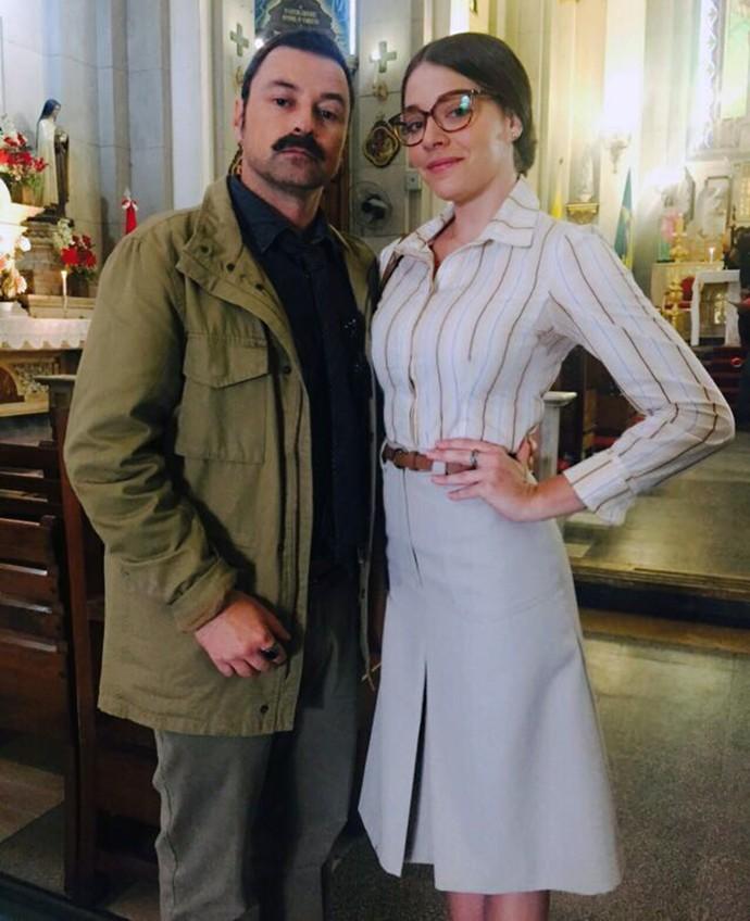 Luma Costa posa com Emílio Orciollo Netto. Ela como Elisa e ele como Damasceno (Foto: Arquivo Pessoal  /  Emílio Orciollo Netto)
