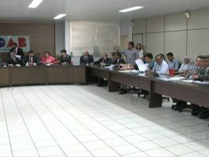 Comissão do Senado em reunião com a OAB-MA (Foto: Reprodução/TV Mirante)