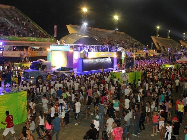 Público foi abaixo do esperado (Foto: Marcos Dantas/G1 AM)