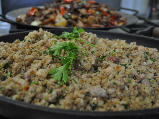 Paçoca de pinhão é receita típica de Lages   (Foto: Taina Borges/Divulgação)