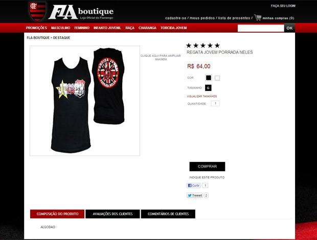 Print Camisa, Torcida Jovem Fla (Foto: Reprodução)