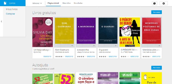Livros gratuitos no Google Play  (Foto: Reprodução/Lívia Dâmaso)