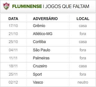 Fluminense_8-ultimas_rodadas (Foto: Editoria de Arte / Globoesporte.com)