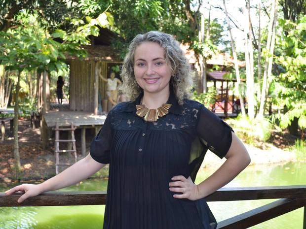 Brenda Melo se prepara para o lançamento do CD 'Tática' em setembro, no AP (Foto: Gabriel Penha/G1)