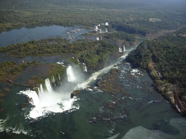 Vista aérea do lado brasileiro (Foto: Divulgação)