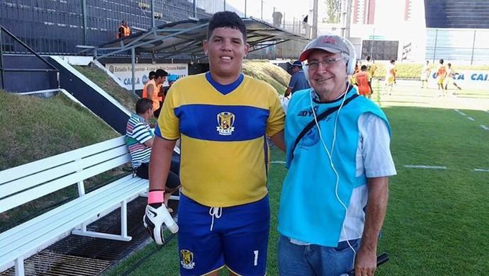 Thomas Rodrigues, goleiro gordinho no RN (Foto: Ricardo Silva)