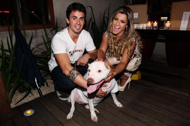 Babi Rossi com Caio Lima em evento beneficente em São Paulo (Foto: Manuela Scarpa/ Foto Rio News)