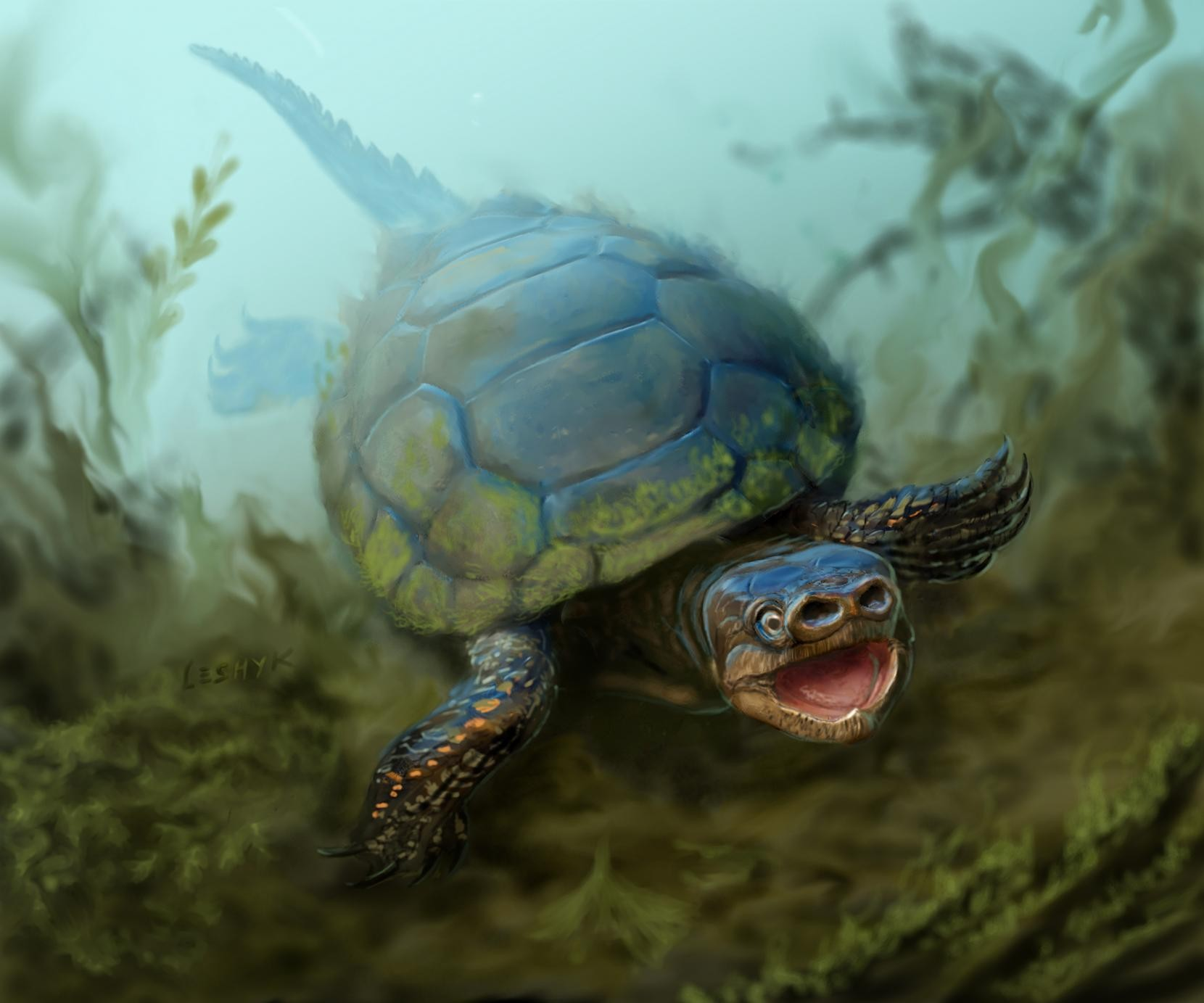 Ilustração da Arvinachelys goldeni (Foto: Reprodução/Victor Leshyk)