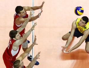 Matheus vôlei jogo Brasil sub 23 contra Rússia (Foto: Alexandre Arruda / CBV)