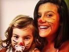 Flávia Alessandra posta foto das filhas: 'Minhas coelhinhas'