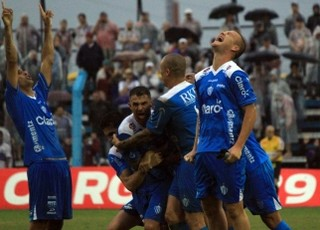 Novo Hamburgo venceu o Caxias no Estádio do Vale (Foto: Divulgação/Novo Hamburgo)