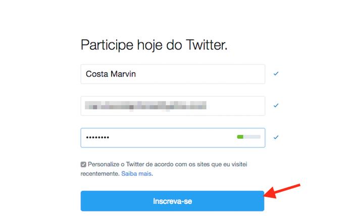 d61725a2e Como criar uma conta no Twitter
