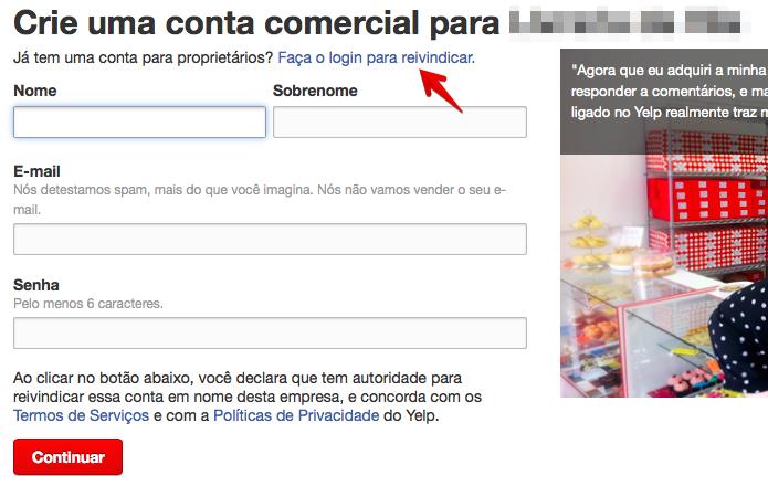Faça login ou crie uma conta para a sua empresa (Foto: Reprodução/Helito Bijora)