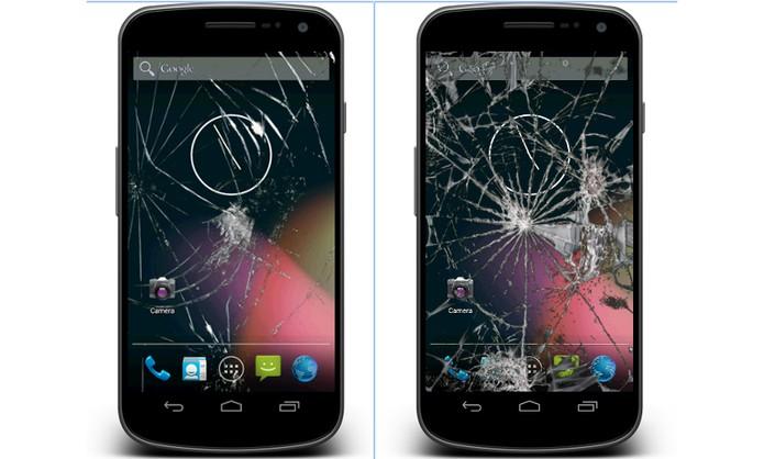 Aplique efeito de tela rachada no celular (Foto: Divulgação/Google Play)