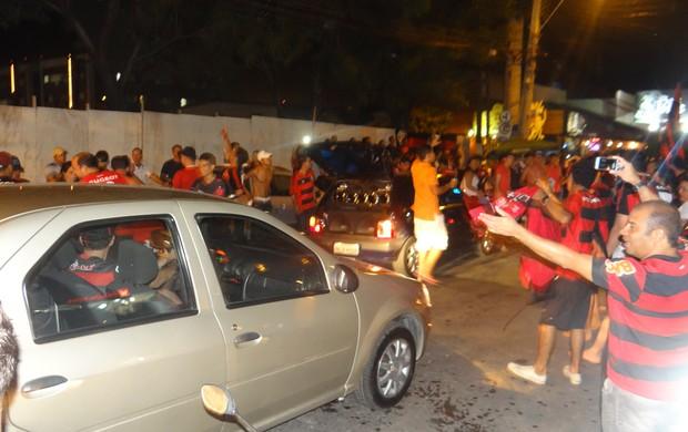 Flamengo x Atlético-PR, Maceió (Foto: Denison Roma/ GloboEsporte.com)