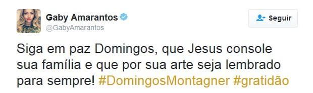 Gaby Amarantos (Foto: Twitter / Reprodução)