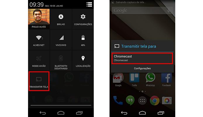 Donos de Nexus também podem usar as configurações rápidas (Foto: Reprodução/Paulo Alves)