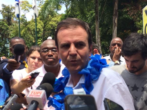 Prefeito do Rio, Eduardo Paes, pretende determinar locais de protestos (Foto: Matheus Rodrigues/ G1)