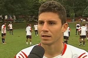 João Denoni volante Oeste Itápolis Palmeiras (Foto: Reprodução / TV TEM)
