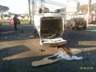 Acidente com carro de funerária deixa feridos em Nova Iguaçu, RJ