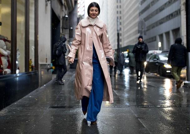 Street style do 4º dia da temporada de inverno 2018 da NYFW (Foto: Adriano Cisani/whatAstreet)