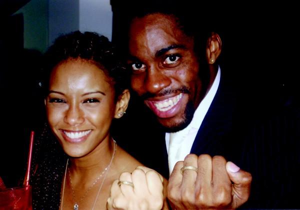 Taís Araújo e Lázaro Ramos no início do casamento (Foto: Arquivo Pessoal)