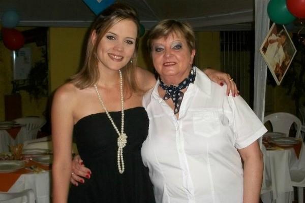 Luciane Kohlmann e a mãe Mariane (Foto: Arquivo pessoal)