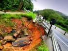 Chuva põe costa sul de São Sebastião em estado de atenção
