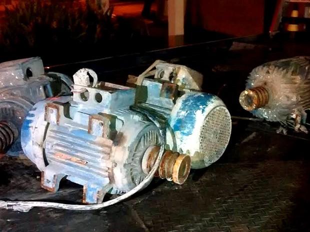 Polícia acredita que motores industriais sejam produtos de furtos (Foto: Osni Martins/Arquivo pessoal)