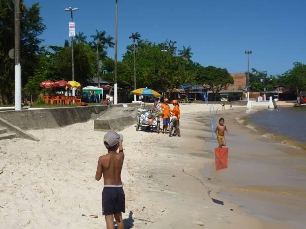 Em Outeiro, Praia do Amor foi considerada imprópria para banho de acordo com o resultado final do teste de balneabilidade. (Foto: Alessandra Serrão/ Prefeitura de Belém)