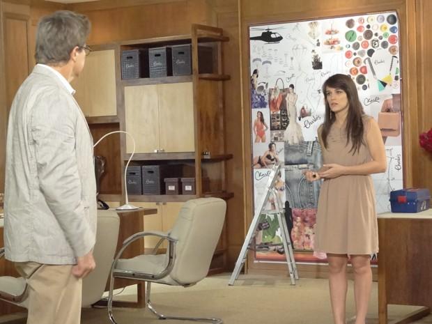 Felipe põe Carolina no seu lugar: 'Aqui você não manda nada!' (Foto: Guerra dos Sexos/TV Globo)