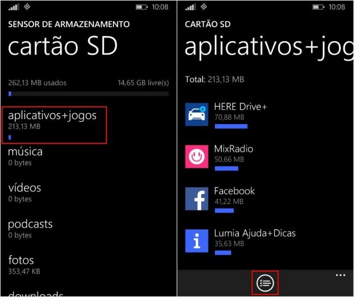 Acesse os aplicativos instalados no celular ou cartão SD (Foto: Reprodução/Helito Bijora)