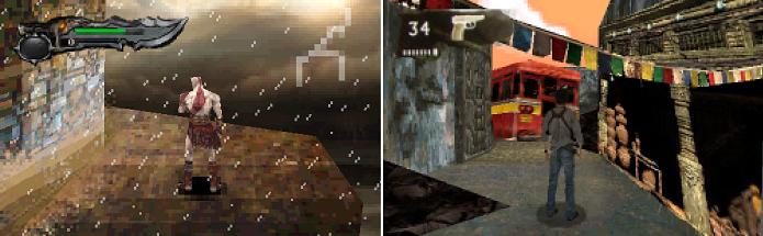GoW e Uncharted 2 receberam o demake (Foto: Reprodução/NeoGAF)