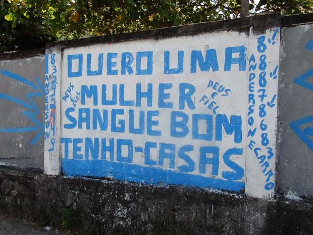 muro pichação (Foto: Gabriel Gonçalves/G1)